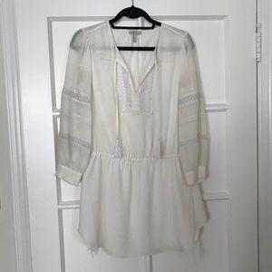 Joie cream silk dress cover up sz S